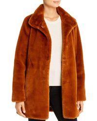 Calvin Klein Faux Fur Coat - Brown
