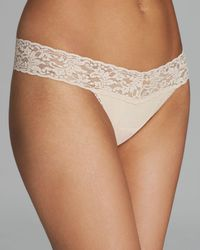 Hanky Panky - Cotton With A Conscience Low - Rise Thong - Lyst