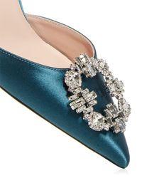 SJP by Sarah Jessica Parker Embellished D'orsay Court Shoes - Blue