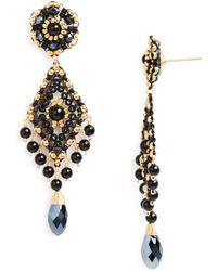 Miguel Ases Beaded Earrings - Metallic
