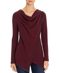 Marc New York Performance Womens Marled Sweater Knit Zip Up