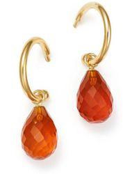 Bloomingdale's - Fire Opal Briolette Hoop Drop Earrings In 14k Yellow Gold - Lyst