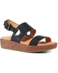 Vionic Women's Louise Raffia Platform Sandals - Black