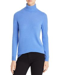 C By Bloomingdale's Cashmere Turtleneck Sweater - Blue