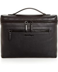 Ferragamo - Firenze Slim Leather Briefcase - Lyst