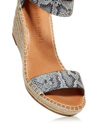 Gentle Souls by Kenneth Cole Charli Espadrille Wedge Sandals - Multicolour