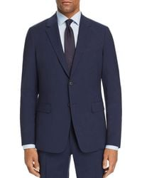Theory Chambers Tonal Tic - Stripe Slim Fit Suit Jacket - Blue