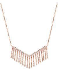 Bloomingdale's - Diamond V Pendant Necklace With Fringe In 14k Rose Gold, .20 Ct. T.w. - Lyst