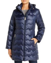 Kate Spade Scallop - Quilted Puffer Coat - Blue