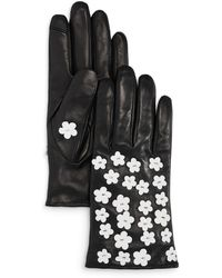 Echo - Blossom Leather Tech Gloves - Lyst