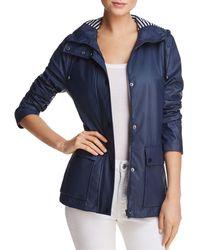Aqua Hooded Raincoat - Blue
