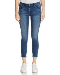 DL1961 Florence Instasculpt Cropped Skinny Jeans In Stranded - Blue