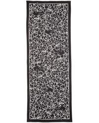 Kate Spade Scribble Flora Oblong Scarf - Black