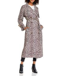 Notes Du Nord Olympic Leopard Print Trench Coat - Multicolor