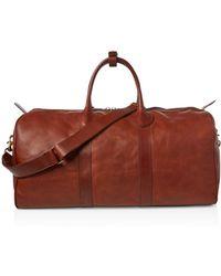 4446fb0e5d Lyst - Polo Ralph Lauren Leather Duffel Bag in Brown for Men