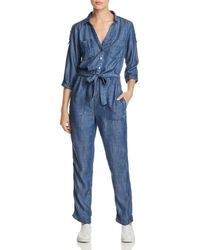 Mkt Studio Oura Chambray Jumpsuit - Blue