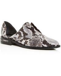 Frēda Salvador Wear Laceless Croc - Embossed D'orsay Leather Oxfords - Multicolour