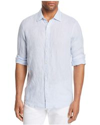 Michael Kors - Cross Dye Linen Long Sleeve Button-down Shirt - Lyst