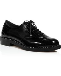 Jimmy Choo - Women's Reeve Crystal-trimmed Patent Leather Oxfords - Lyst
