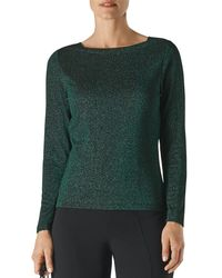 Whistles Sparkle Knit Top - Green