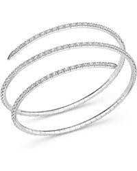 Bloomingdale's Diamond Coil Bracelet - White