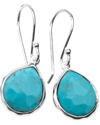 Ippolita - Sterling Silver Rock Candy® Turquoise Drop Earrings - Lyst