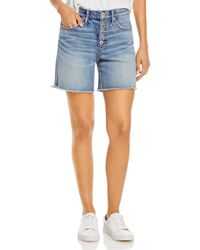 Jag Jeans Cecilia High Rise Jean Shorts In Seaside Heights - Blue