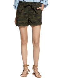 Sanctuary - Daydreamer Belted Camo Shorts - Lyst