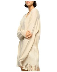 Pinko Sequined Knit Tunic Dress - Natural
