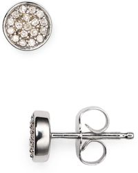 Adina Reyter Pavé Diamond Stud Earrings - Metallic