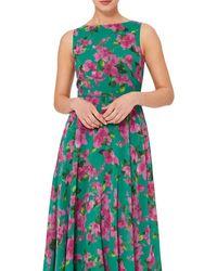 Hobbs Carly Floral Print Dress - Blue