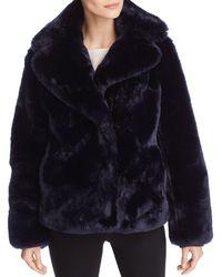 Vince Camuto Faux Fur Coat - Blue