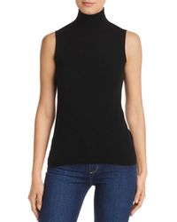 C By Bloomingdale's Sleeveless Cashmere Sweater - Black
