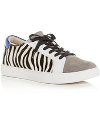 Kenneth Cole Women's Kam Animal - Print Lace Up Sneakers - White
