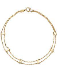 Moon & Meadow - Doubled Chain & Bar Bracelet In 14k Yellow Gold - Lyst