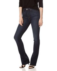 PAIGE Manhattan Bootcut High - Rise Jeans In Gardena - Blue