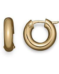 Roberto Coin 18k Yellow Gold Hoop Earrings - Metallic