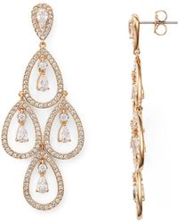 Nadri - Pear Shaped Chandelier Earrings - Lyst