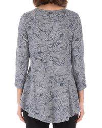 B Collection By Bobeau Brushed Knit Top - Grey