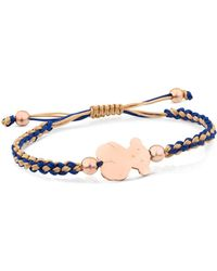 Tous | Bear Charm Knotted Cord Bracelet | Lyst