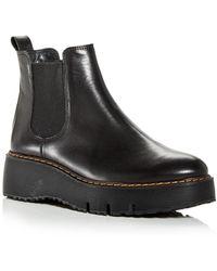 Paul Green Elysee Wedge Platform Chelsea Boots - Black