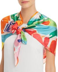 Echo - Watercolor - Floral Silk Scarf - Lyst