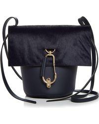 07a16d5d168 Zac Zac Posen - Belay Medium Leather & Calf Hair Crossbody Bucket Bag - Lyst