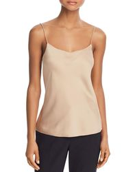 Theory Teah Silk - Stretch Camisole Top - Natural