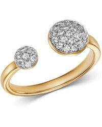 Bloomingdale's Pavé Diamond Open Ring In 14k Yellow Gold - Metallic