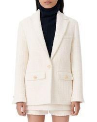 Maje Vandra Wool Tweed Blazer - Multicolour