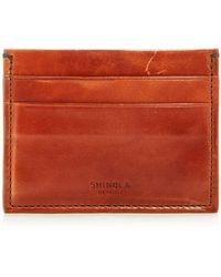 Shinola Leather Card Case - Multicolour