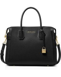 Michael Kors Mercer Small Leather Handbag - Black