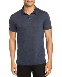 John Varvatos John Varavtos Star Usa Burnout Slim Fit Polo Shirt - Blue
