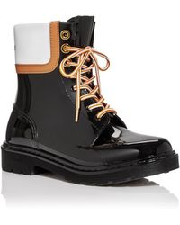See By Chloé Lace Up Rain Boots - Black